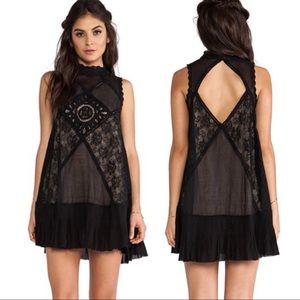 Free People Angel Lace Dress Size S in Black